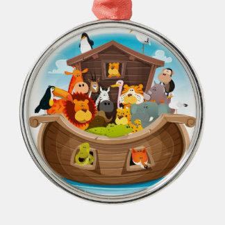 Ornamento De Metal A arca de Noah com animais da selva