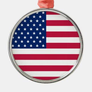 Ornamento De Metal A bandeira dos EUA Stars o Natal patriótico de