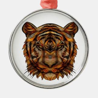 Ornamento De Metal A cabeça 1a do tigre