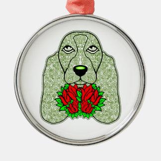 Ornamento De Metal A cabeça de cão 3