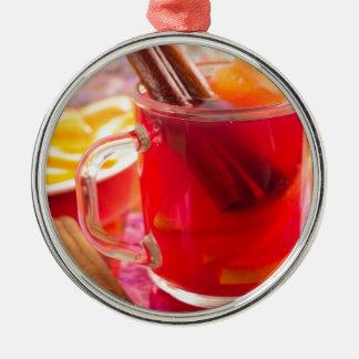 Ornamento De Metal A caneca transparente com citrino mulled o vinho,
