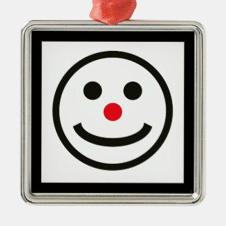 Ornamento De Metal A cara feliz