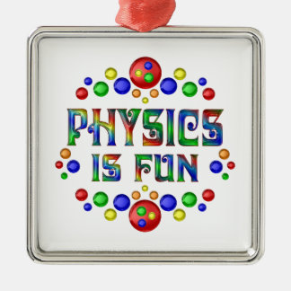 Ornamento De Metal A física é divertimento