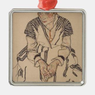 Ornamento De Metal A irmã do artista de Egon Schiele- na lei