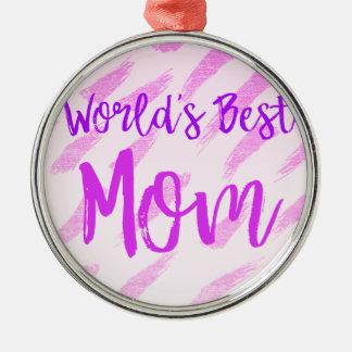 Ornamento De Metal A melhor mamã do mundo