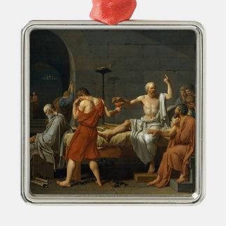 Ornamento De Metal A morte de Socrates