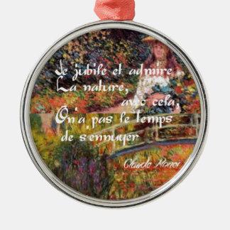 Ornamento De Metal A natureza no art. de Monet