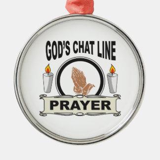 Ornamento De Metal a oração é linha do bate-papo dos deuses