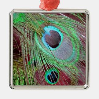 Ornamento De Metal A pena de fluxo do pavão dos olhos azuis