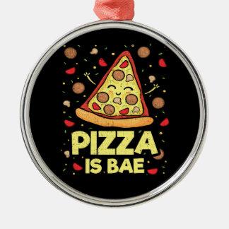 Ornamento De Metal A pizza é Bae - desenhos animados engraçados -