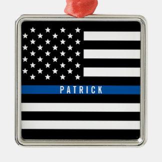 Ornamento De Metal A polícia dilui a bandeira de Blue Line