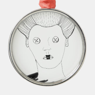 Ornamento De Metal A rainha do botão