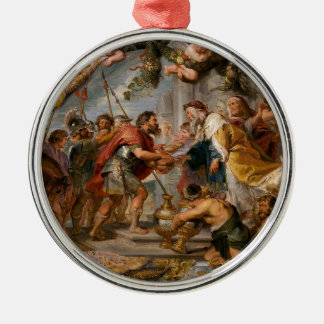 Ornamento De Metal A reunião de Abraham e de arte de Melchizedek
