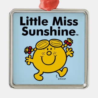 Ornamento De Metal A senhorita pequena pequena Luz do sol da