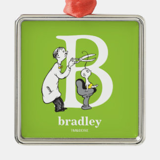 Ornamento De Metal ABC do Dr. Seuss: Letra B - O branco | adiciona