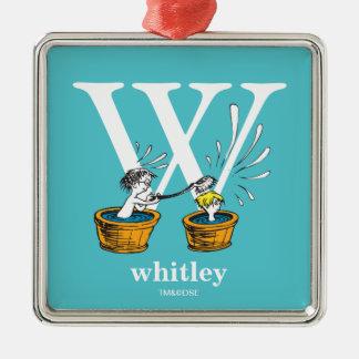 Ornamento De Metal ABC do Dr. Seuss: Letra W - O branco   adiciona