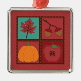 Ornamento De Metal Abóbora vermelha rústica Apple das bolotas da
