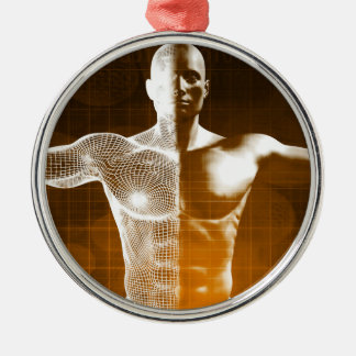 Ornamento De Metal Abstrato da ciência como uma arte do fundo do