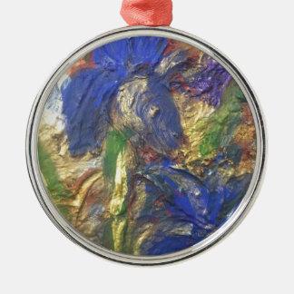 Ornamento De Metal Abstrato da íris