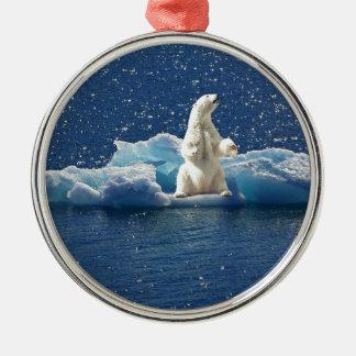 Ornamento De Metal Adicione o SLOGAN para salvar o gelo ártico do