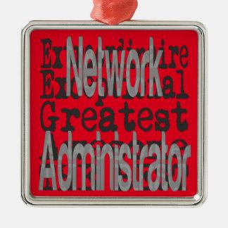 Ornamento De Metal Administrador de rede Extraordinaire