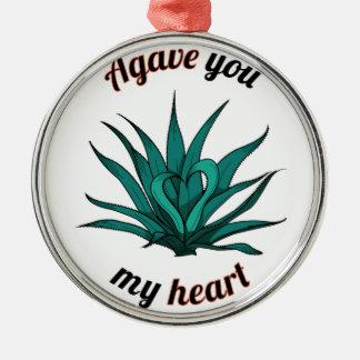 Ornamento De Metal agave você meu coração