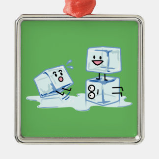Ornamento De Metal água gelada do cubo dos cubos de gelo que desliza