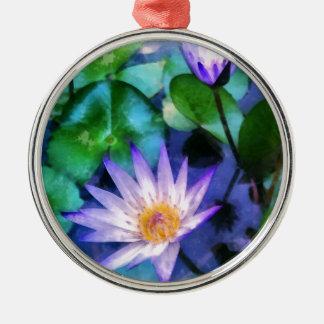 Ornamento De Metal Aguarela roxa de Lotus
