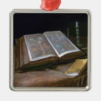 Ornamento De Metal Ainda vida com a bíblia por Vincent van Gogh
