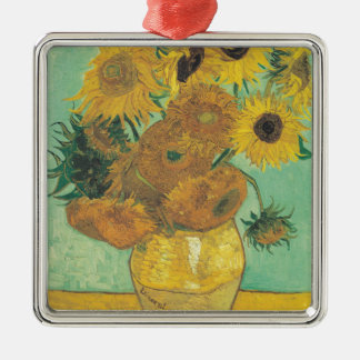 Ornamento De Metal Ainda vida: Girassóis - Vincent van Gogh