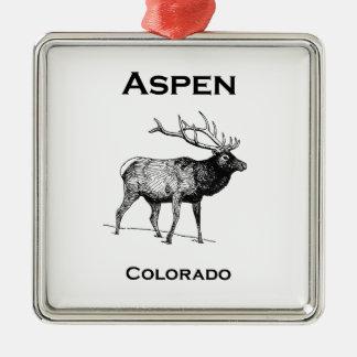 Ornamento De Metal Alces de Aspen Colorado