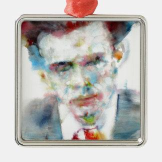 Ornamento De Metal ALDOUS HUXLEY - retrato .4 da aguarela