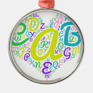 Ornamento De Metal alfabeto do amor
