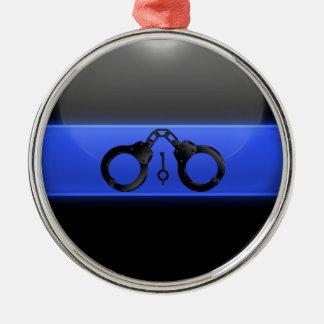Ornamento De Metal Algemas finas e chave de Blue Line