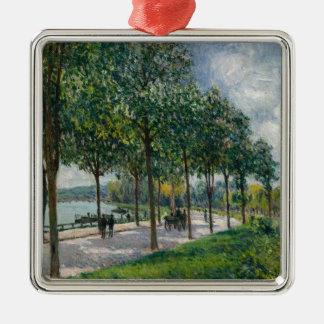 Ornamento De Metal Allée de árvores de castanha - Alfred Sisley