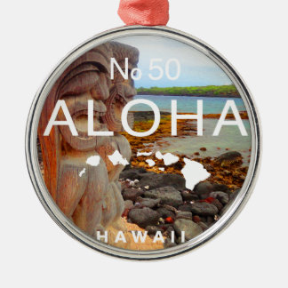 Ornamento De Metal Aloha nenhuns 50 Tiki