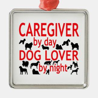 Ornamento De Metal Amante do cão do cuidador