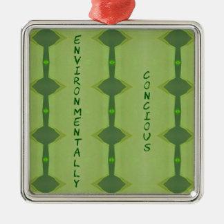 Ornamento De Metal Ambiental consciência verde indo