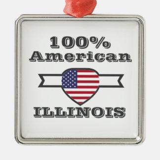 Ornamento De Metal Americano de 100%, Illinois