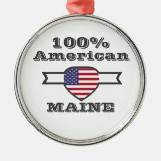 Ornamento De Metal Americano de 100%, Maine