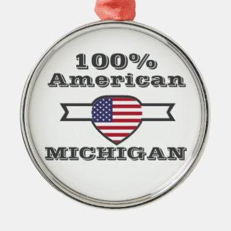 Ornamento De Metal Americano de 100%, Michigan