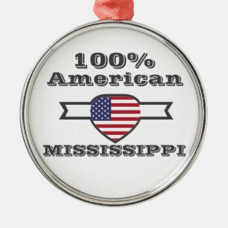 Ornamento De Metal Americano de 100%, Mississippi