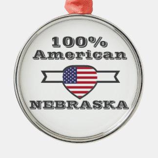 Ornamento De Metal Americano de 100%, Nebraska