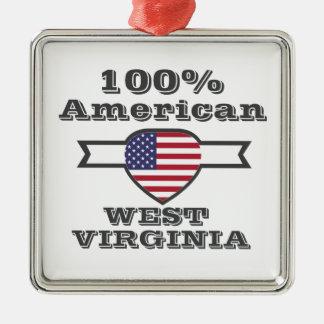 Ornamento De Metal Americano de 100%, West Virginia