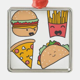 Ornamento De Metal amigos do fast food