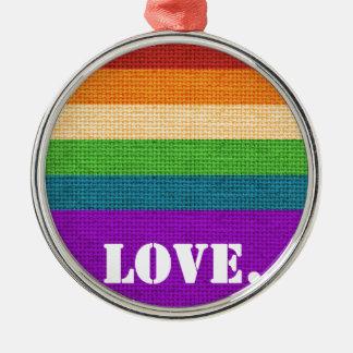Ornamento De Metal Amor de LGBT