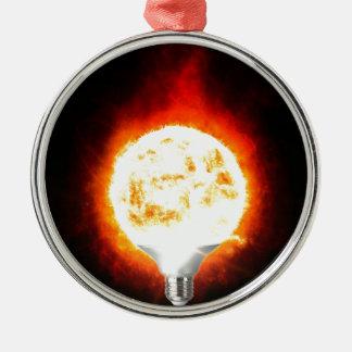 Ornamento De Metal Ampola de Sun