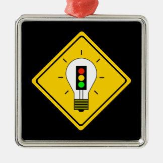 Ornamento De Metal Ampola do sinal de trânsito adiante