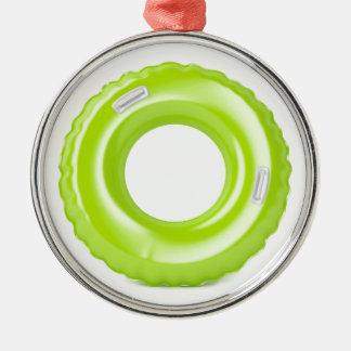 Ornamento De Metal Anel verde da natação