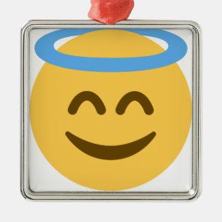 Ornamento De Metal Angel Emoji